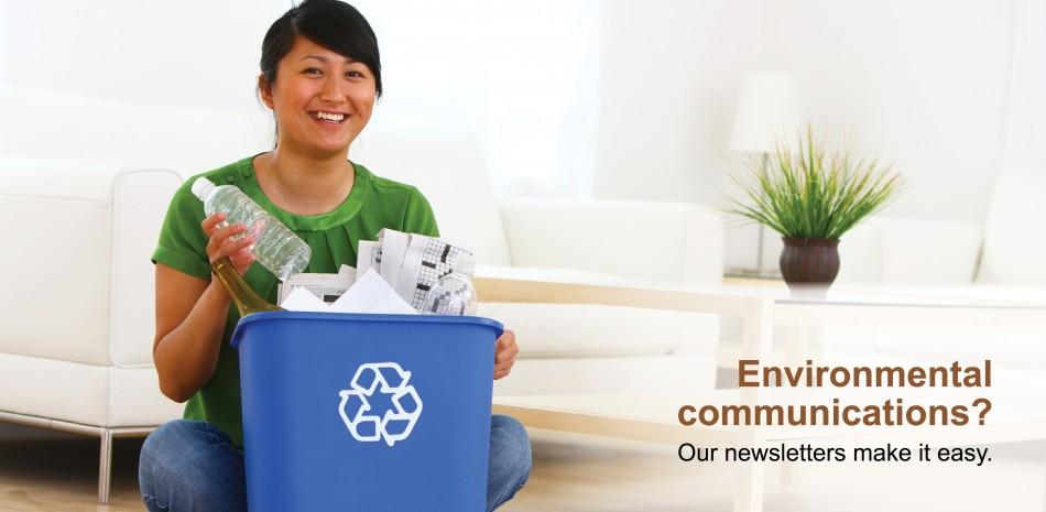 Woman with bin
